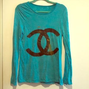 Fashion Chanel Burn-out Long-sleeve Shirt!